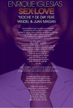 noche y de dia enrique - Google-haku Enrique Iglesias Songs, Lyric Art, Sex And Love, English, Lyrics, Photos, Haku, Movie Posters, Singers