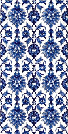 China blue and white porcelain tiles.