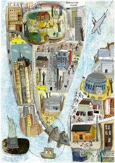 Map of New York Auf maisieparadise.tumblr.com
