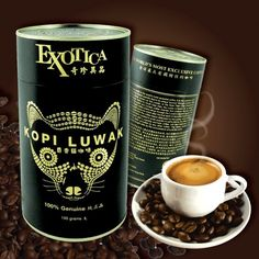 My husband tried Kopi Luwak coffee...out of curiosity and reluctantly and decided it was not his cup of tea, LOL. #coffeebeans #kopiluwak