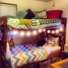 College dorm bunk beds