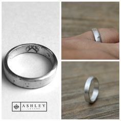 Sterling silver custom pet cremation ring. Ashes are permanently embedded into the silver using a self developed method. She requested a paw print on the inside. I love the way this turned out! #cremation #ash#honor#memorial#ashleylozanojewelry #ashleylozano #rescue #pet #pitbull #dogrescue #dogprint #dogsofinstagram #petsagram #petsofinstagram #instadog #dogs #customjewelry #cremationjewelry #mourningjewelry