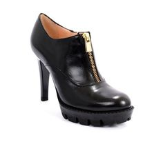 Black Leather Side-Zip Stiletto Heel Ankle Boots 20% OFF- Code PINTEREST20