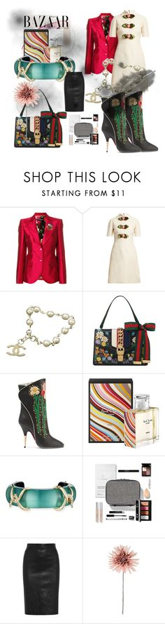 """bazaar"" by ssladjanica ❤ liked on Polyvore featuring Dolce&Gabbana, Bela, Gucci, Chanel, Paul Smith, Alexis Bittar, Trish McEvoy and Givenchy"
