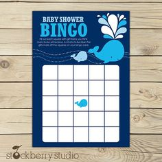 #Babyshower printable games from Red Tricycle - Baby Shower Bingo from Stockberry Studio on Etsy #babyshowergames