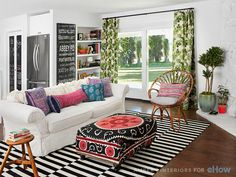 Living room designed by Amber Lewis
