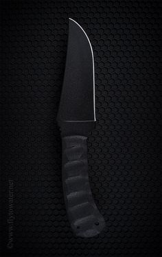 Winkler Knives II Belt Knife Tactical Fixed Blade. Black Micarta and Caswell Finish.