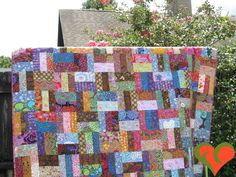 Kaffe Fassett Quilt. 'Kaffe Delight' Twin/Full Bed Sized One of A Kind Quilt. Free Shipping. by FayCarrieQAOT on Etsy
