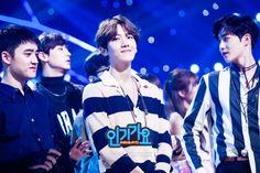 Baekhyun - 160902 SBS Inkigayo website update Credit: SBS. (SBS 인기가요)