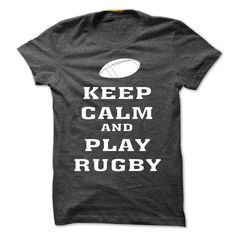Awesome Rugby Lovers Tee Shirts Gift for you or your family member and your friend:  KEEP CAML AND PLAY RUGBY Tee Shirts T-Shirts