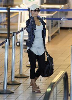 Celebrity Airport Style Halle Berry