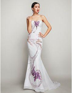 Vestido de Fiesta Blanco Estampado con Flores @ Vestidos de Fiesta Baratos