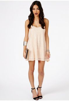 NYE  - Kira Strappy Sequin Swing Dress - Dresses - Missguided