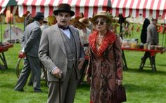 Poirot and Ariadne Oliver. Dead Man's Folly 2013