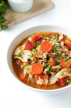 Easy Russian Cabbage Soup with Ground Turkey — Coffee & Crayons Slow Cooker Cabbage Rolls, Cabbage Roll Soup, Cabbage Rolls Recipe, Lentil Recipes, Soup Recipes, Dinner Recipes, Healthy Recipes, Healthy Foods, Healthy Dinners
