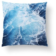 Blue Ocean Surf Throw Pillow, Nautical Decor Style Accent, Deep Blue... ($45) ❤ liked on Polyvore featuring home, home decor, throw pillows, navy blue home accessories, dark blue throw pillows, nautical accent pillows, nautical throw pillows and nautical theme home decor
