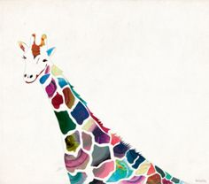 This piece shows a great example of positive and negative space. I like this picture specifically because it can be made in different ways using imperfect shapes and shades. This is somthing that makes you wonder exactly which is the negative and positive space. Also, the giraffe is so cool looking in rainbow.   -Sam Nowry -block D