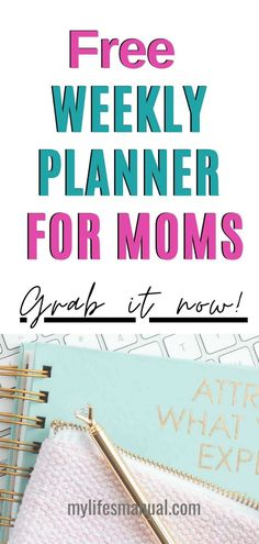 Now you can organize your busy week! Grab the Free Weekly Planner Printables for moms to help you manage your goals, menu, and . Daily Printable, Weekly Planner Printable, Free Printable Stickers, Printable Labels, Printable Cards, Free Printables, Planner Tips, Free Planner, Goals Planner