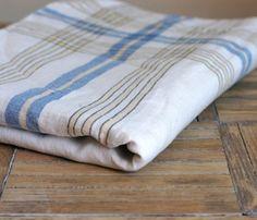 Gorgeous Plaid Striped Linen Tablecloth $23