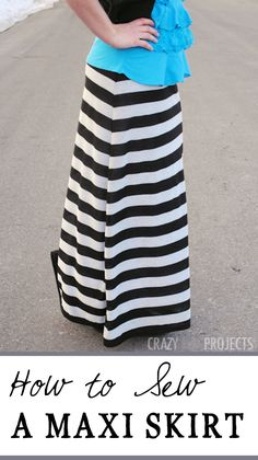 Use this easy maxi skirt pattern and tutorial to sew your own maxi skirt. It's easy and the pattern is free.
