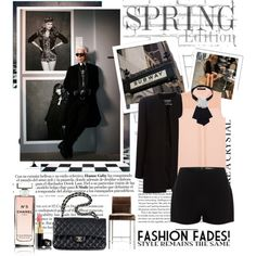 Lagerfed look by le-petit-demon on Polyvore featuring moda, Karl Lagerfeld, Chanel, Alexander McQueen, AG Adriano Goldschmied and Spy Optic