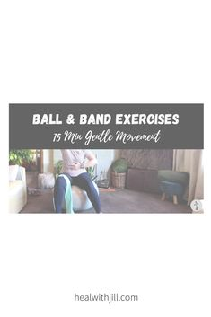15-minute gentle movement Healing, Exercise, Band, Ejercicio, Sash, Excercise, Work Outs, Workout, Sport