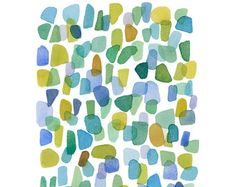 Watercolor Sea glass / Beach finds is an original watercolor painting. An abstract painting on white Fabriano paper. This painting was inspired by the sea and beaches I visited in Sardegna Italy. It reminds me of the beautiful colors of the sea caught by pieces of sea glass and pebbles on the beaches.  Papersize: 9 x 12 inches ( 23 x 30,5 cm) 300 gms archival watercolor paper. The work is signed in the front and carefully shipped to you in a cellophane bag with a sturdy backing and a rig...