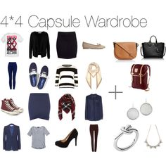 4*4 Capsule Wardrobe by frlchen on Polyvore featuring Mode, Vero Moda, MANGO, River Island, Emilio Pucci, VILA, H&M, Oui, Keds and Charlotte Russe