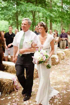 father and bride boho wedding inspiration