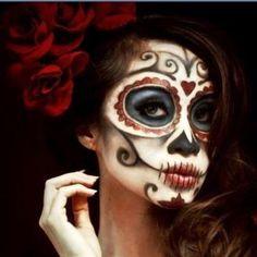 Dia de los Muertos / Sugar Skull Halloween Make Up Idea from Art Design Landscape