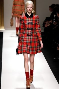 Checked Jacket and Skirt - Moschino - Fall RTW 2013