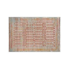 Momeni Luxe Villiers Framed Geometric Rug, Red/Coppr (Rust/Coppr), Durable