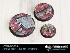 Tabletop Art - Scrap Steel Bases Preview