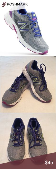 New Balance 450v3 Running Shoes New Balance running shoes in excellent condition. Only worn twice. Figured out they are not the right type of shoe for me. Gray mesh with purple, dark pink and lime green. No box. 🚫TRADES New Balance Shoes Athletic Shoes