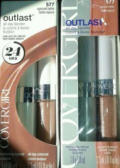 CoverGirl Outlast All Day Lipcolor #577 Spiced Latte LOT of 2 lipstick lip gloss #CoverGirl find all different shades at #ThenAndAgainTreasures store on #eBay all #BESTOFFER available too!