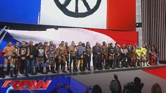 WWE honors the victims of the Paris terrorist attacks: Raw, November 16,...