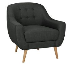 Buy Hygena Lexie Retro Fabric Chair - Grey at Argos.co.uk, visit Argos.co.uk to shop online for Armchairs and chairs, Sofas, armchairs and chairs, Home and garden