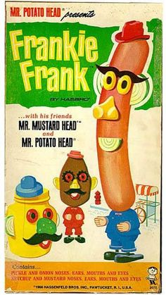 Vintage Frankie Frank toy ad, presented by  Mr. Potato Head