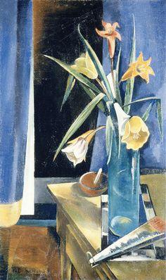 Preston Dickinson / Vase of Flowers / c. 1926 / oil on canvas / The Metropolitan Museum of Art