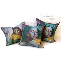 These are beautiful, my mum has the prints.  Makes me think of home.  Tretchikoff Treasures - Vintage Cushions, Prints & Postcards