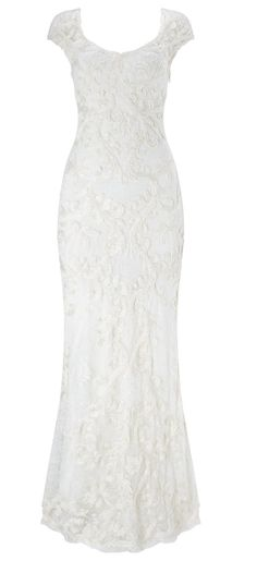$145.19-Vintage Sheath V-Neck Lace Wedding Dress With Cap-Sleeves. http://www.ucenterdress.com/sheath-v-neck-cap-sleeve-lace-wedding-dress-with-embroidery-pMK_702753.html.  Free Custom-made & Free Shipping! Shop lace wedding dress, strapless wedding dress, backless wedding dress, with sleeves, mermaid wedding dress, plus size wedding dress, We have great 2016 best Wedding Dresses on sale at #UcenterDress.com today!