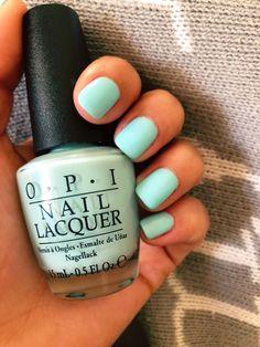 Spring nail color   Gelato on my mind OPI   short Gel nails #springnails