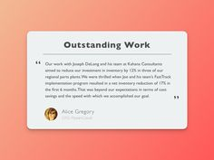 Was itching to design, so I opened up Sketch and created this testimonial widget.  I wanted to make the actual testimonial the most prominent element as well as the title for it so the read could g...
