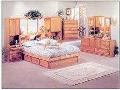 oak pier wall unit bedroom suite