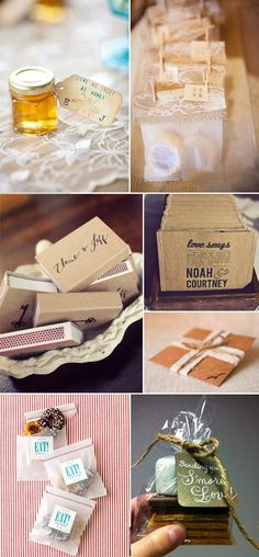 Crafty Wedding Favors on http://www.engagedandinspired.com