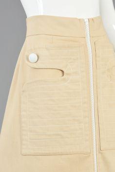 Pierre Cardin 1960s Zip Front Space Age Skirt | BUSTOWN MODERN