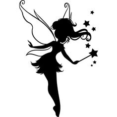 Fairy Silhouette, Silhouette Portrait, Silhouette Design, Dancer Silhouette, Fairy Lights In A Jar, Fairy Jars, Elfen Tattoo, Fairy Tattoo Designs, Fairy Crafts