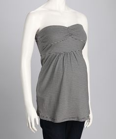 Black & White Stripe Maternity Sleeveless Top
