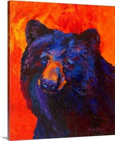 Augment your home's artistic style with this Thoughtful Black Bear by Marion Rose Painting Print on Canvas. Part of Art & Home's amazing Canvas Wall Art collection. Canvas Art Prints, Painting Prints, Canvas Wall Art, Big Canvas, Canvas Size, Bear Paintings, Rose Paintings, Bear Art, Rose Art