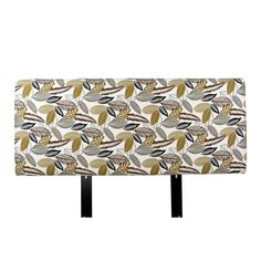 MJL Designs Floral Upholstered Headboard Driftwood, Size: California King - ALICE-CK-FLORFOLDRFT